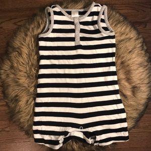 H&M Striped Short Onesie. Infant Size 9-12m